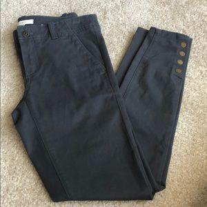 NWT Loft Skinny Snap Cuff Pants In Marisa Fit Sz 0